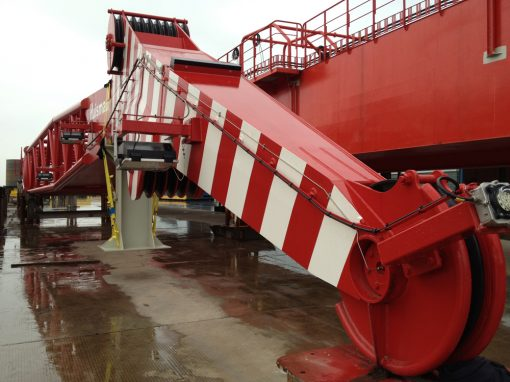 China to Netherlands – Offshore Crane