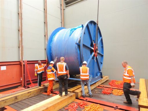 UK to China – 8 Heavy Cable Reels