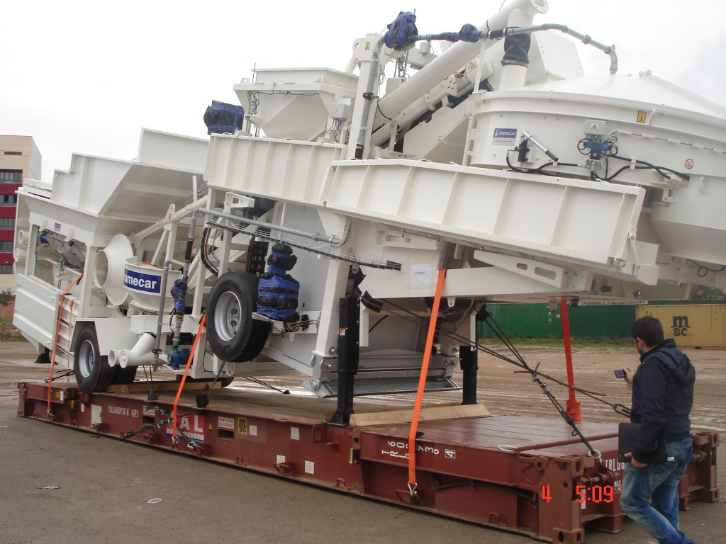 Spain to Mexico – Mobile Concrete Batching Plant