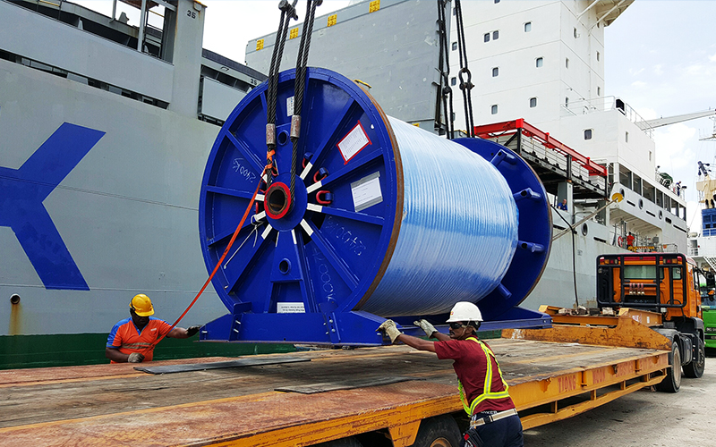 Antwerp to Singapore – 6 Steel Wire Reels